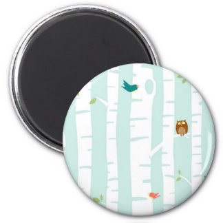 Trees in Spring 2 Inch Round Magnet
