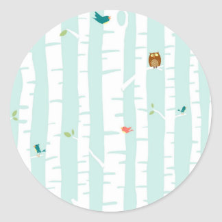 Trees in Spring Classic Round Sticker