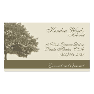 Trees in Tan Double-Sided Standard Business Cards (Pack Of 100)