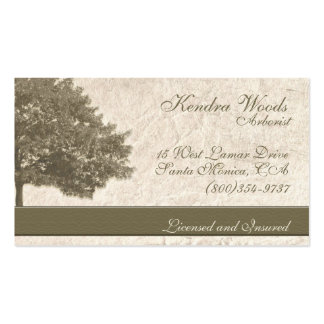 Trees in Tan Paper Double-Sided Standard Business Cards (Pack Of 100)