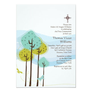 Trees in the Meadow Religious Invitation