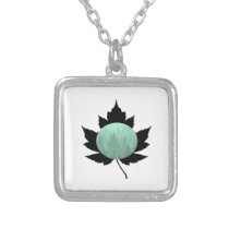 Trees in the Mist Silver Plated Necklace