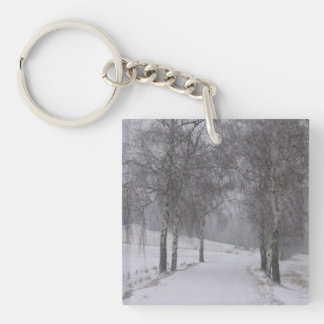 Trees in Winter Keychain
