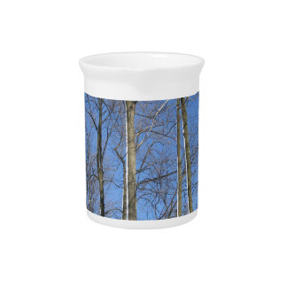 Trees in Winter Beverage Pitcher