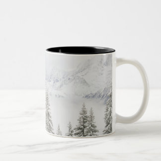 Trees in winter Two-Tone coffee mug