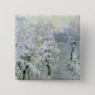 Trees in Wintry Silver, 1910 Button