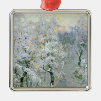 Trees in Wintry Silver, 1910 Metal Ornament