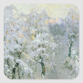 Trees in Wintry Silver, 1910 Square Sticker