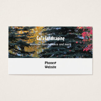 Trees Landscaping Design Business Card