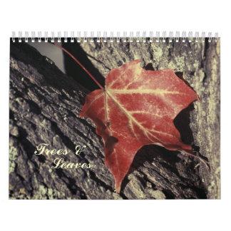 Trees & leaves calendar