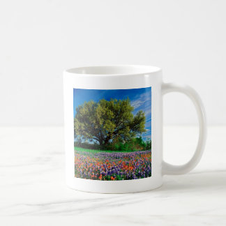 Trees Live Oak Among Texas Bluebonnets Coffee Mug