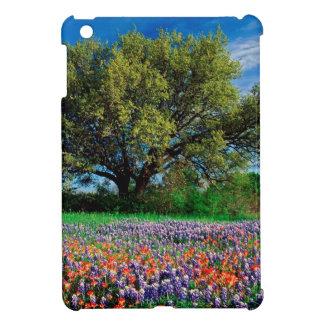 Trees Live Oak Among Texas Bluebonnets iPad Mini Cover