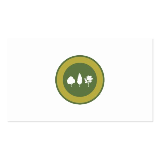 Trees Logo Business Card Template