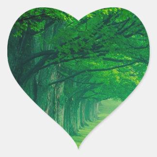 Trees Lush Summer Louisville Kentucky Heart Sticker