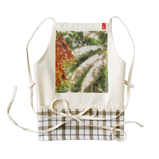 Trees made using fruits and vegetables zazzle HEART apron