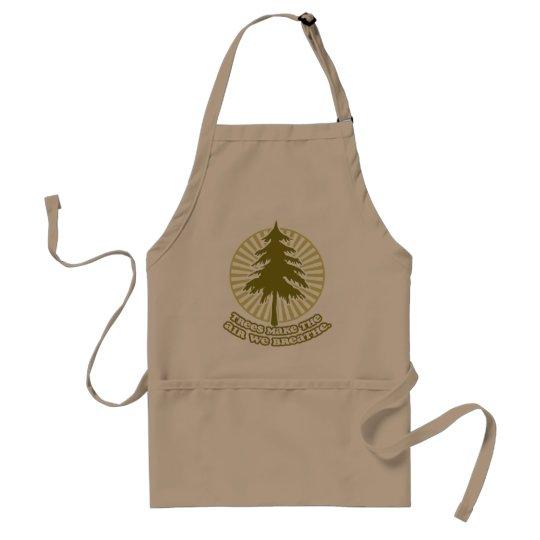 Trees Make Air BBQ Apron