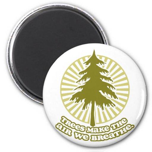 Trees Make Air Round Magnet Magnet