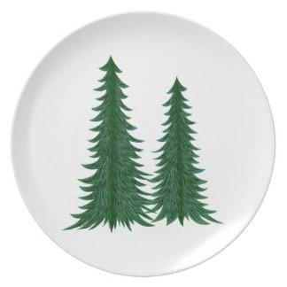 Trees Melamine Plate