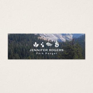 Trees & Mountains Mini Business Card