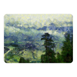 Trees near the mountains card