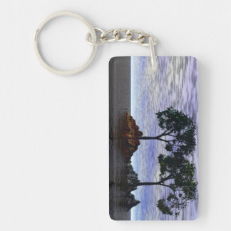 Trees of Fire and Ice Keychain