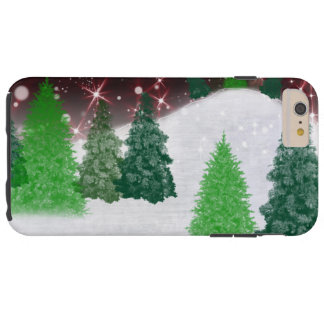 Trees on a Christmas Hill iPhone 6 Case