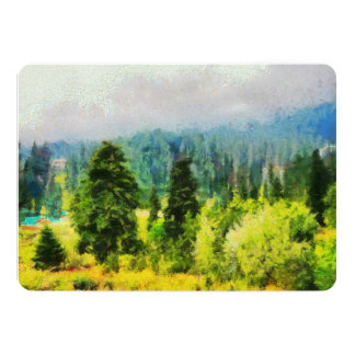 Trees on a mountain card