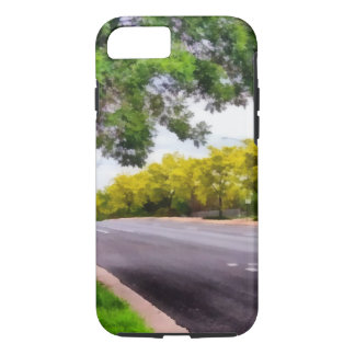 Trees on both sides of a road iPhone 7 case