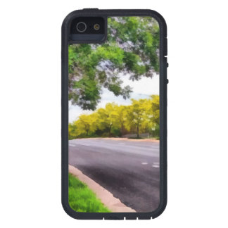 Trees on both sides of a road iPhone SE/5/5s case