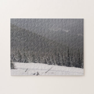 Trees on Mountains Jigsaw Puzzle