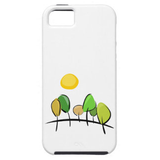 Trees on the hill at sunny day case iphone 5 cover