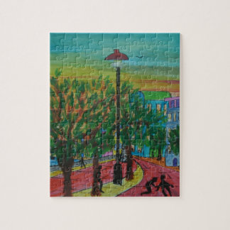 Trees on the Quayside Jigsaw Puzzle