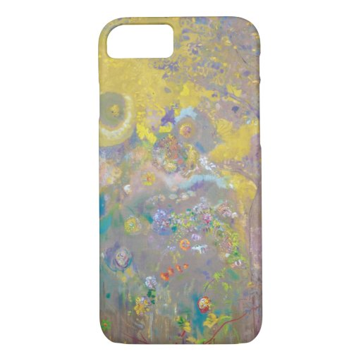 Trees on Yellow Background, Redon iPhone 8/7 Case