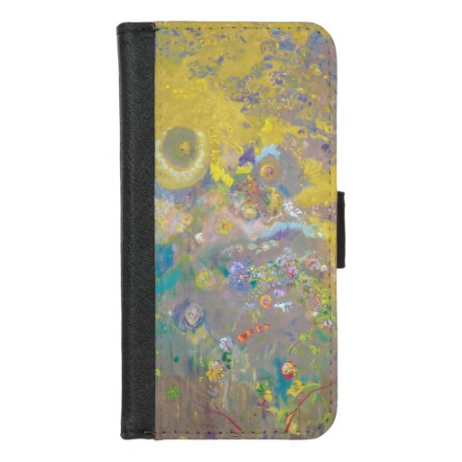 Trees on Yellow Background, Redon iPhone 8/7 Wallet Case