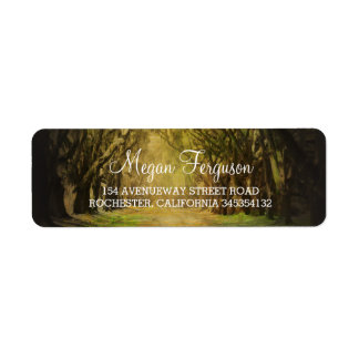 Trees path wedding label