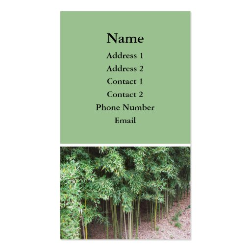 trees photo business card template