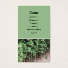 Trees Photo Business Card at Zazzle