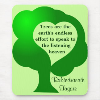 Trees quote mousepad
