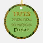 trees recycle christmas tree ornaments