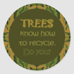trees recycle message stickers