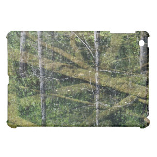 Trees reflected in a shallow pond iPad mini cover