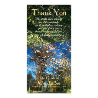 Trees Reflection Autumn Sympathy Thank You P Card