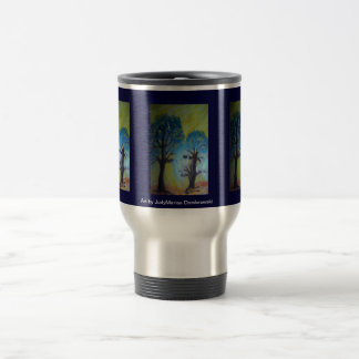 Trees Shimmer in Afternoon Autumn Sun Travel Mug