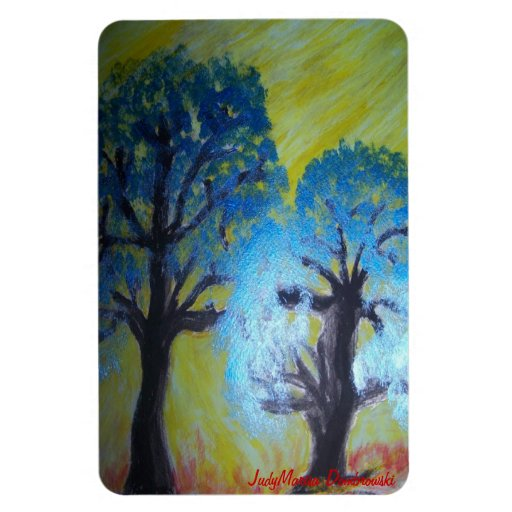 Trees Shimmer in Afternoon Autumn Sun Vinyl Magnet
