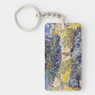 Trees Shrubs Asylum Garden Vincent Van Gogh Keychain