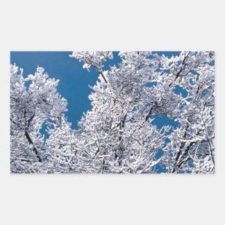 Trees Snow Branches Minnesota Rectangle Sticker