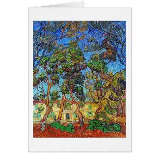 Trees St-Paul Hospital Garden Van Gogh Fine Art Card