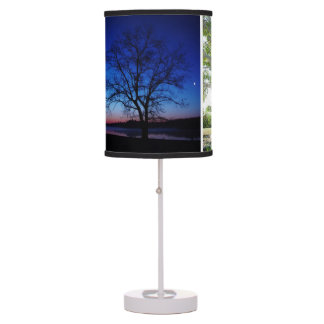 Trees Sunrise Table Lamp