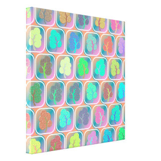 Trees tiled pattern canvas print