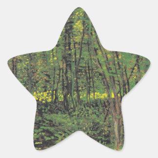 Trees & Undergrowth by Van Gogh Star Sticker